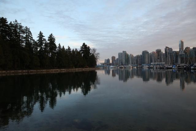 Vancouver, right, meets VIctoria Park, left.