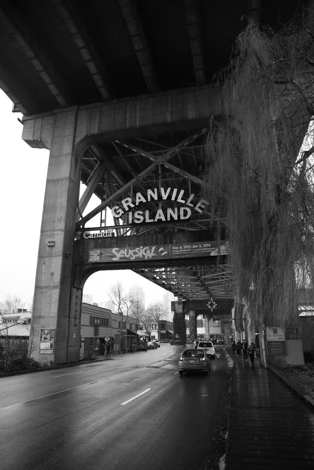 The bridge over Granville Island.